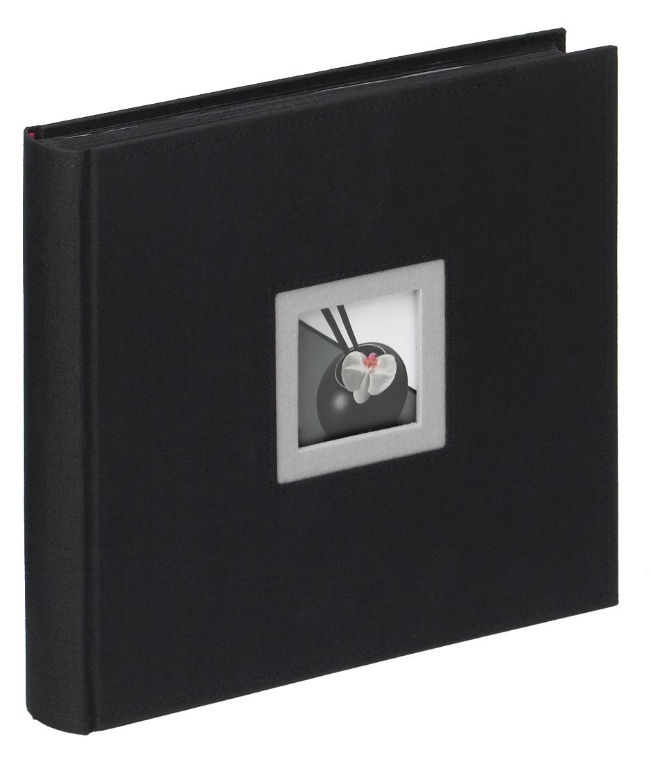 WALTHER BLACK & WHITE klasické/50 stran, 26x25, černá a černé listy