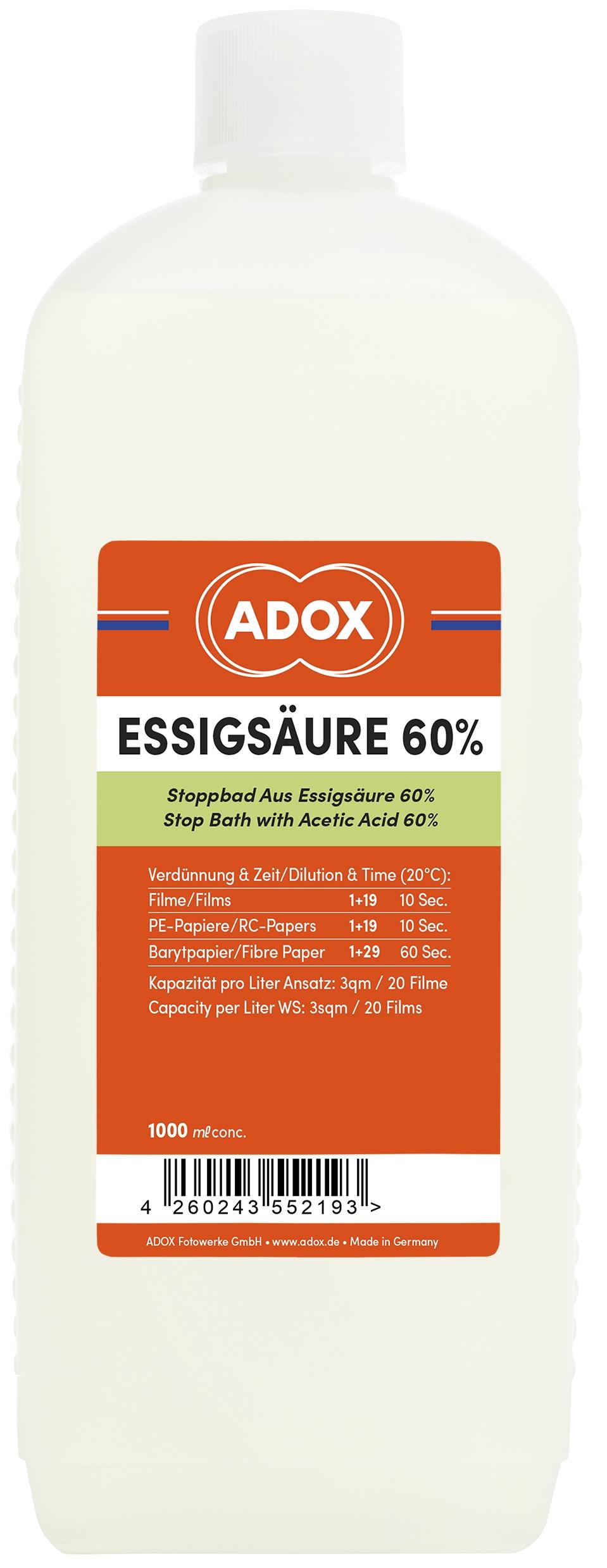 ADOX kyselina octová 60% 1 l přerušovač
