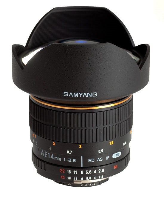 SAMYANG 14 mm f/2,8 ED AS IF UMC pro Samsung NX