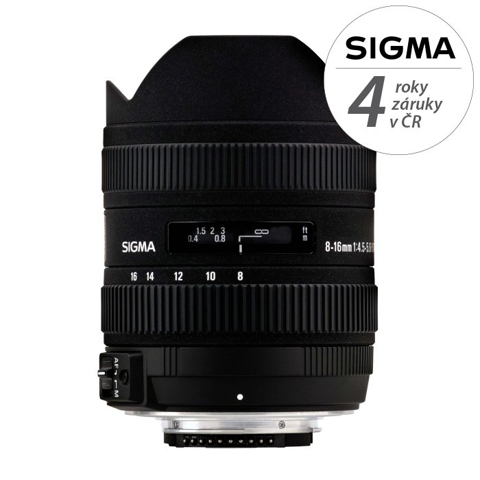 SIGMA 8-16 mm f/4,5-5,6 DC HSM pro Sigmu