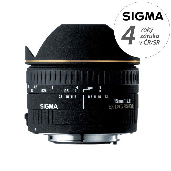 SIGMA 15 mm f/2,8 EX DG Fisheye pro Sigmu