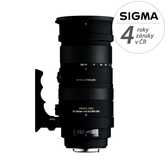 SIGMA 50-500 mm f/4,5-6,3 APO DG OS HSM pro Sigmu