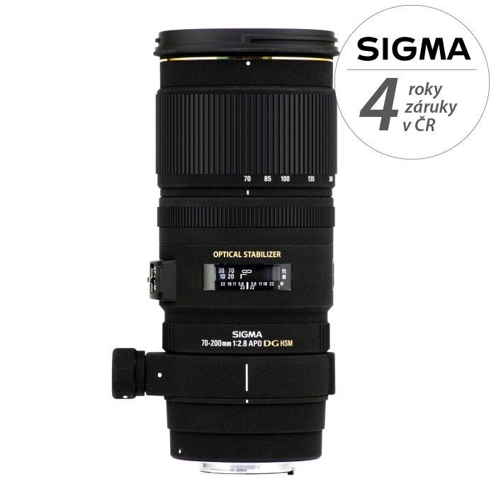 SIGMA 70-200 mm f/2,8 APO EX DG OS HSM pro Sigma