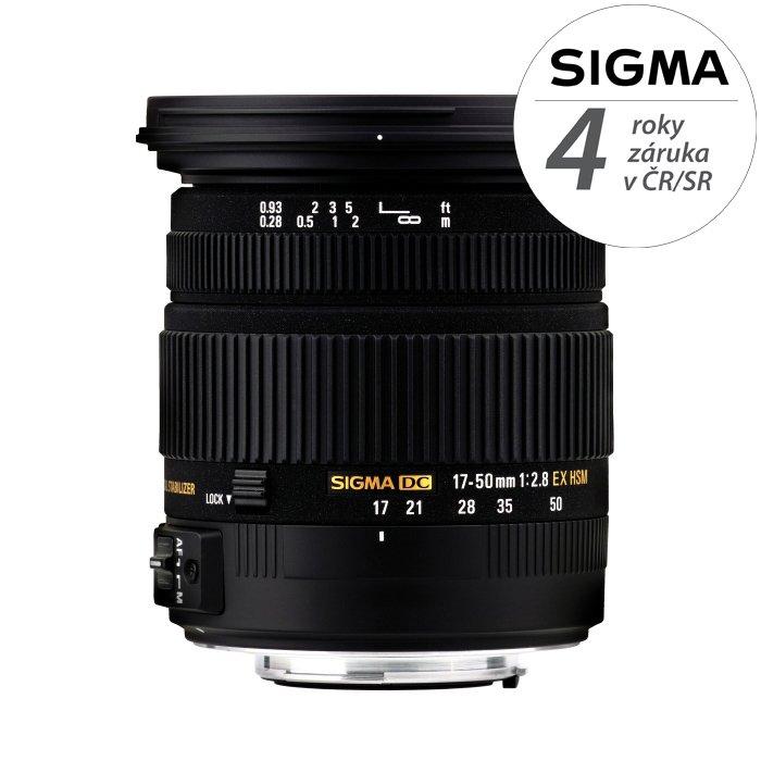 SIGMA 17-50 mm f/2,8 EX DC OS HSM pro Sigmu
