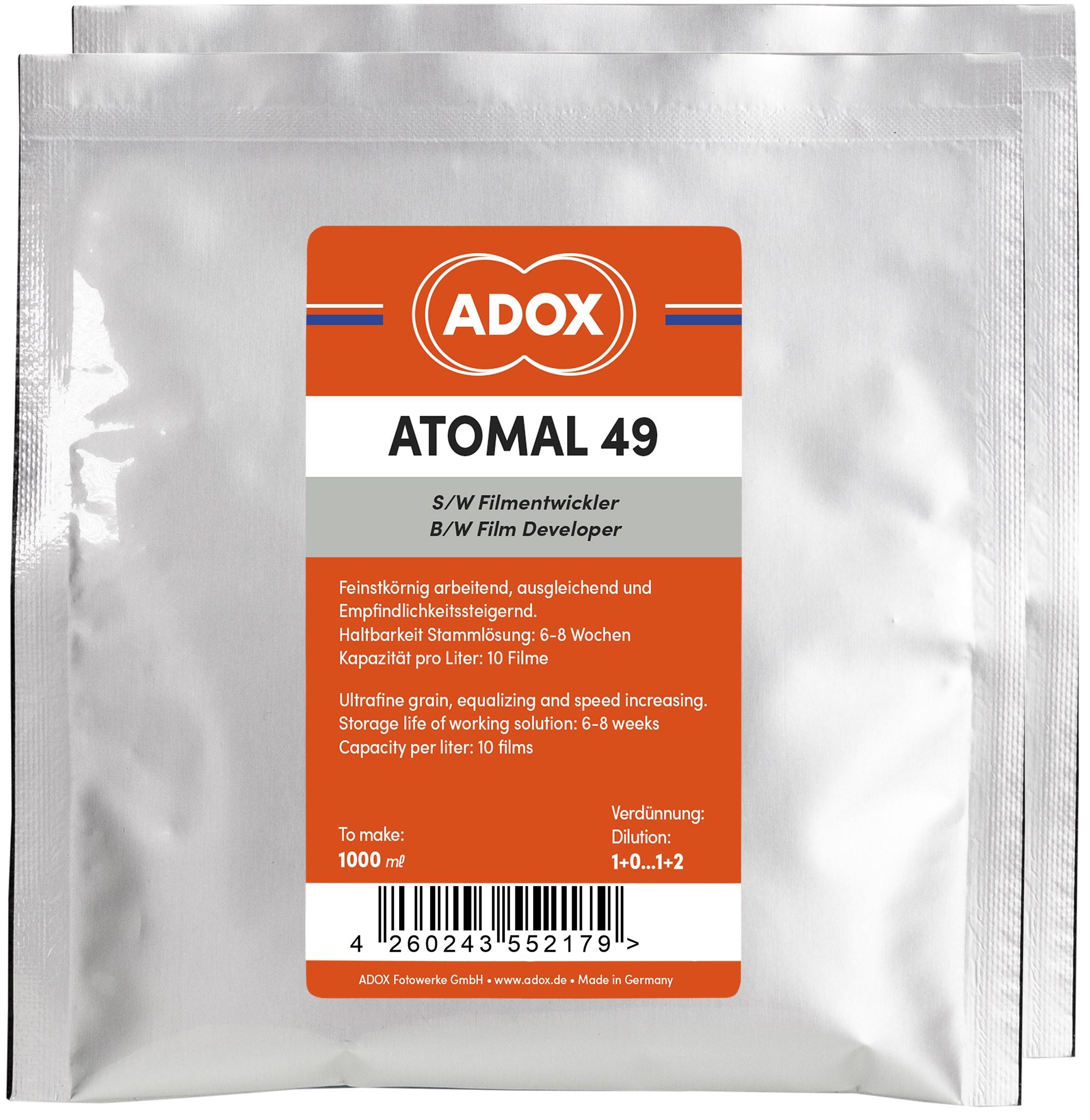 ADOX ATOMAL 49 negativní  vývojka 1 l na 10 filmů