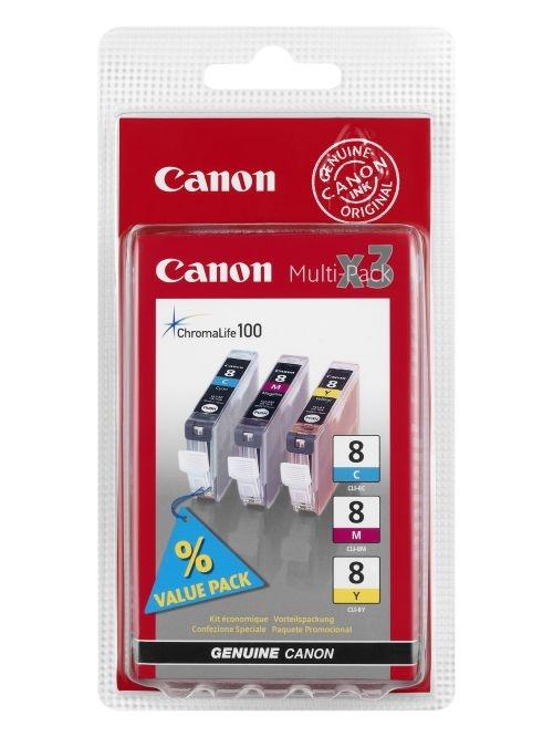 CANON Náplň CLI-8C/M/Y pack 3ks