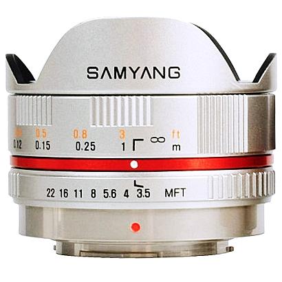 SAMYANG 7,5 mm f/3,5 UMC Fish-eye pro MFT Olympus/Panasonic stříbrný
