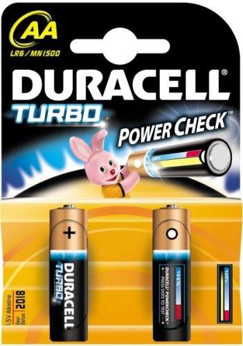 DURACELL AA alkalické baterie TURBO 2ks