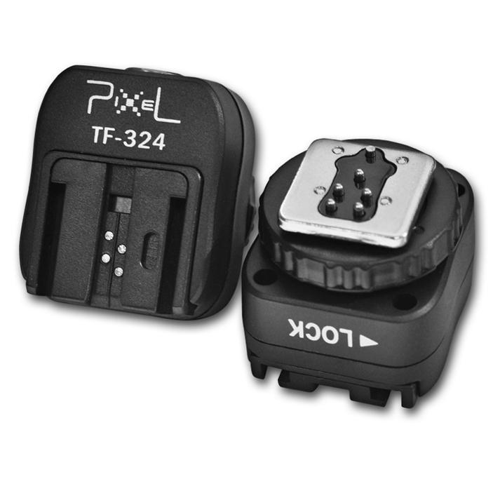 PIXEL TF-324 adaptér patice blesku Sony (starší patice) na tělo Canon/Nikon