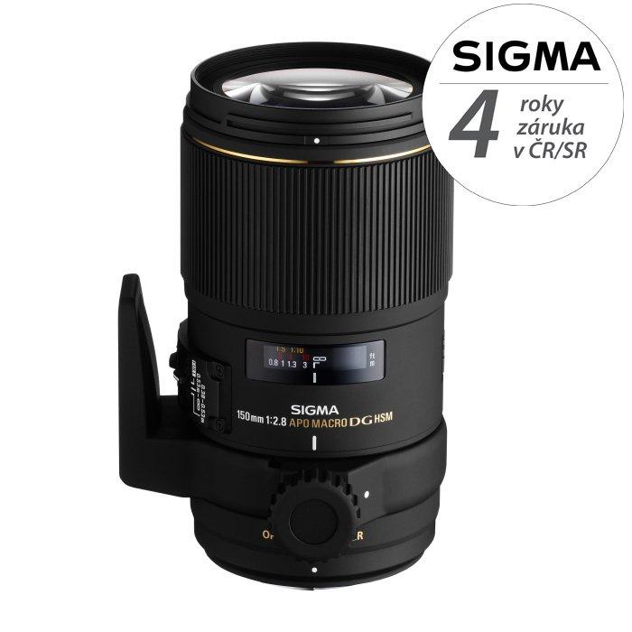 SIGMA 150 mm f/2,8 APO EX DG OS HSM Macro pro Sigmu
