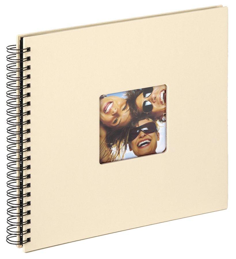 WALTHER FUN klasické/50 stran, 30x30, kroužková vazba,černé listy, béžová