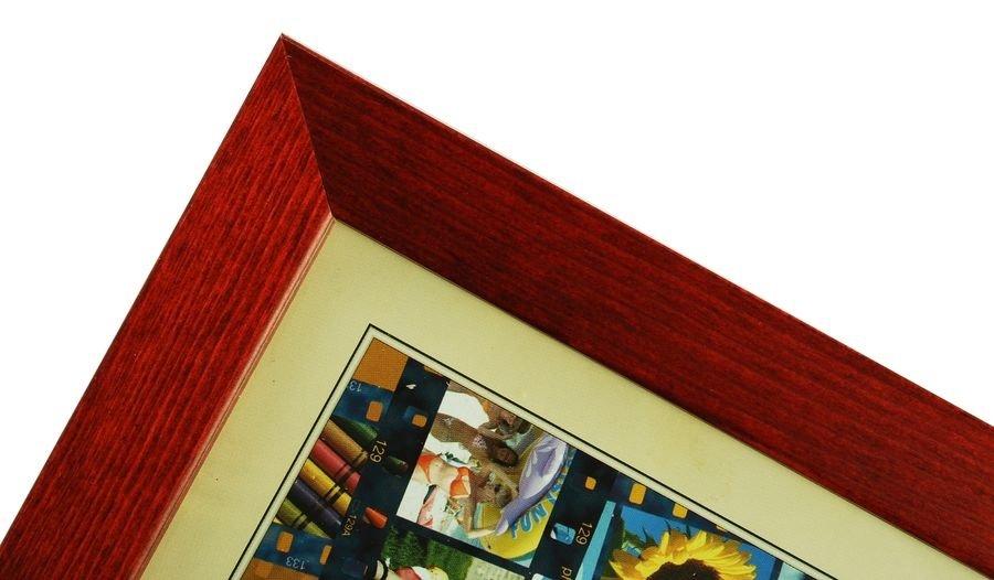 CODEX SLS rám 10x15 dřevo, vínová 006