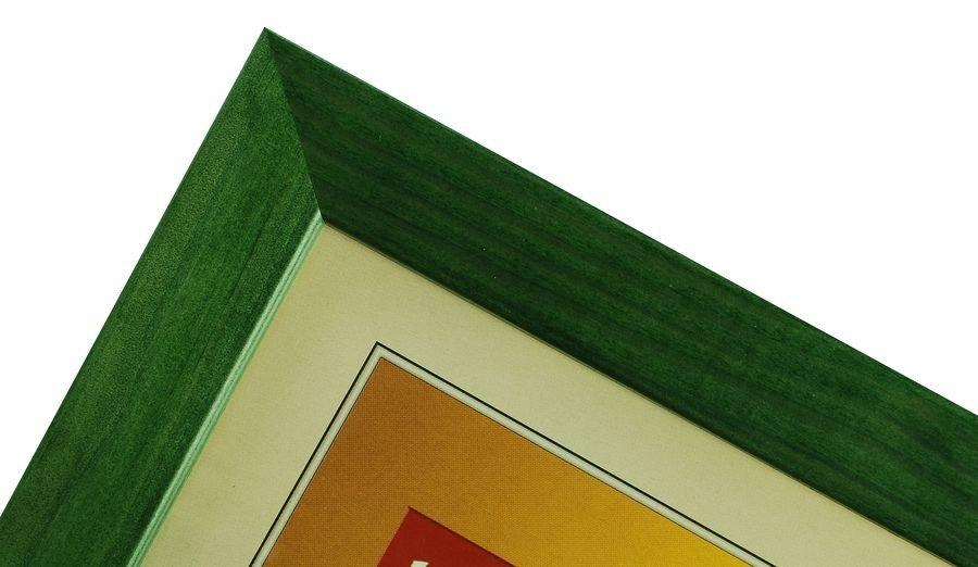 CODEX SLS rám 10x15 dřevo, zelená 007