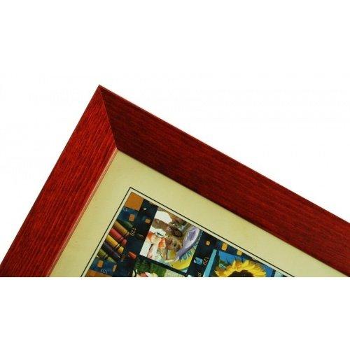 CODEX SLS rám 30x45 dřevo, vínová 006