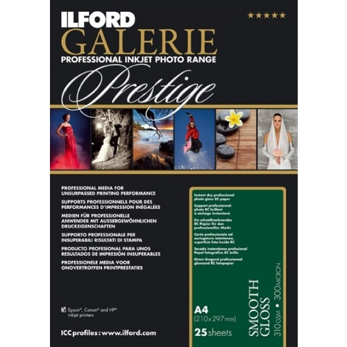ILFORD inkjet 310g Smooth Gloss Paper 13x18/100ks