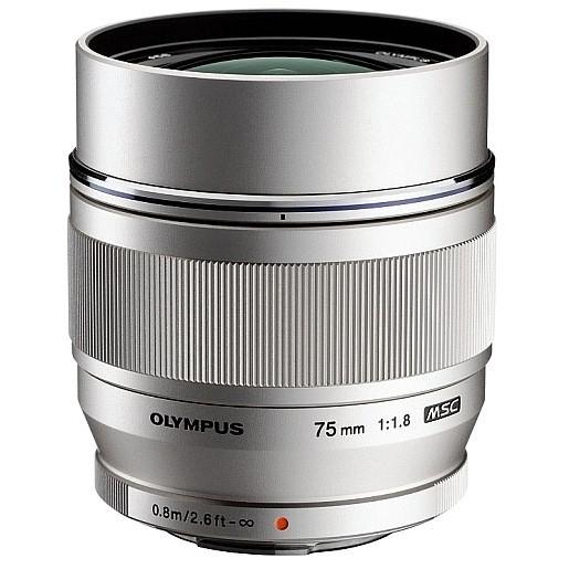 OLYMPUS M.Zuiko Digital 75/1,8 stříbrný