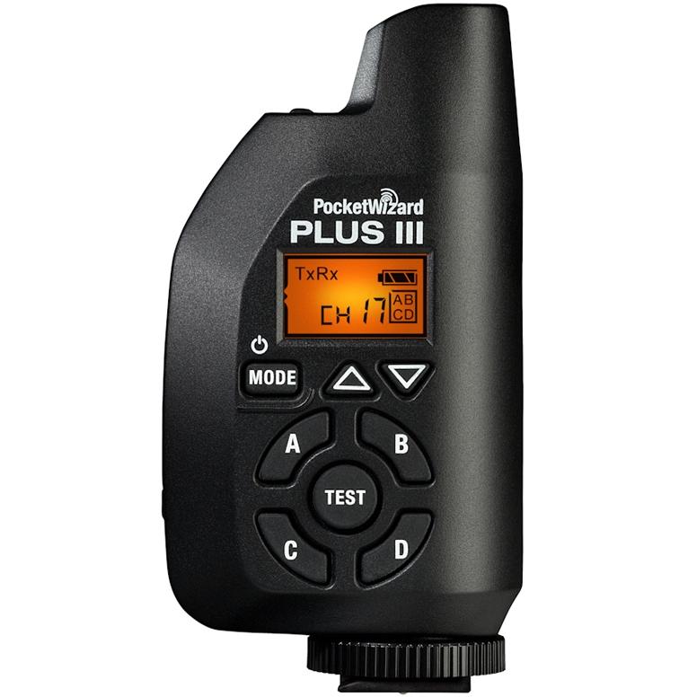 POCKETWIZARD PLUS III rádiový vysílač/přijímač blesku černý
