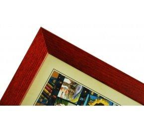 CODEX SLS rám 20x30 dřevo, vínová 006
