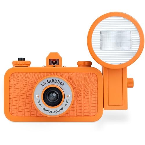 LOMOGRAPHY La Sardina camera & Flash - Orinoco Ochre