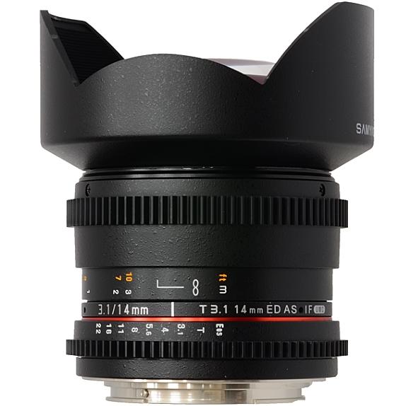 SAMYANG 14 mm T3,1 VDSLR ED AS IF UMC II pro Canon EF