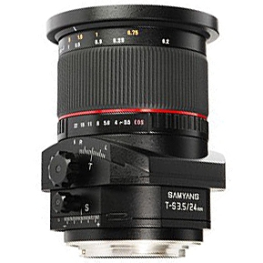 SAMYANG 24 mm f/3,5 Tilt-Shift ED AS UMC pro Canon