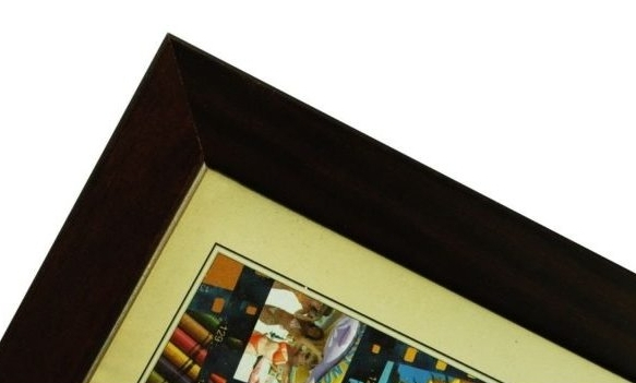 CODEX SLS rám 9x13 dřevo, tm.hnědá