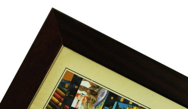 CODEX SLS rám 40x50 dřevo,tm.hnědá 010