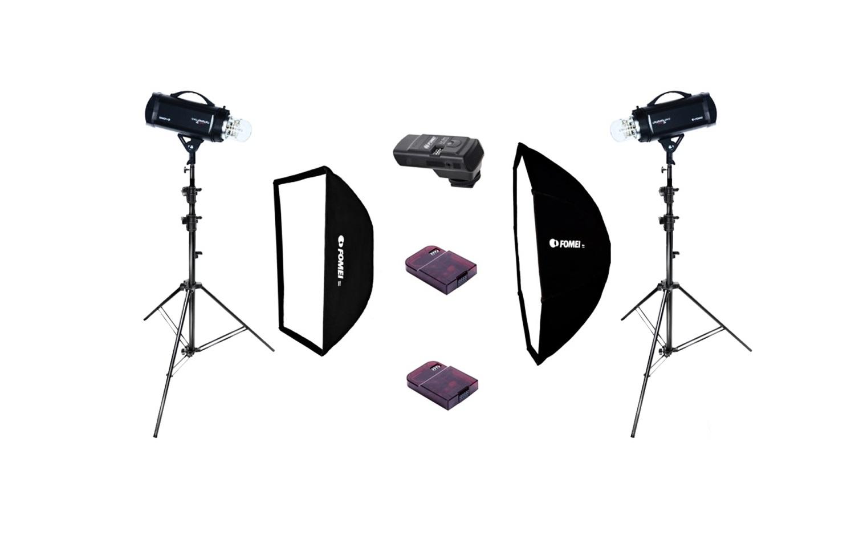 FOMEI Digitalis Pro S 600/600, kit studiových blesků + odpalovače zdarma
