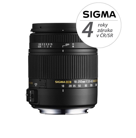 SIGMA 18-250 mm f/3,5-6,3 DC OS HSM pro Canon