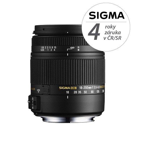 SIGMA 18-250 mm f/3,5-6,3 DC OS HSM pro Sigmu