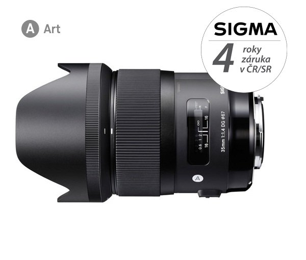 SIGMA 35 mm f/1,4 DG HSM Art pro Sigmu