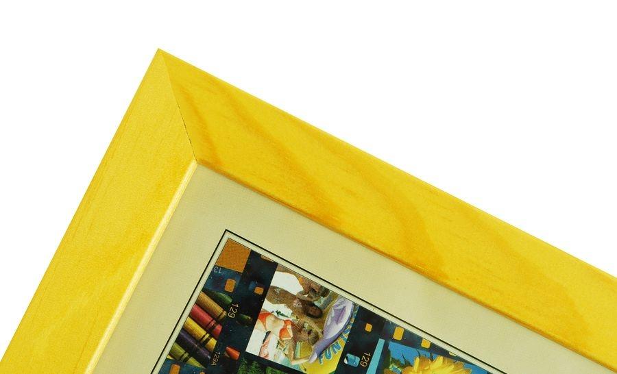 CODEX SLS rám 18x24 dřevo, žlutá 005