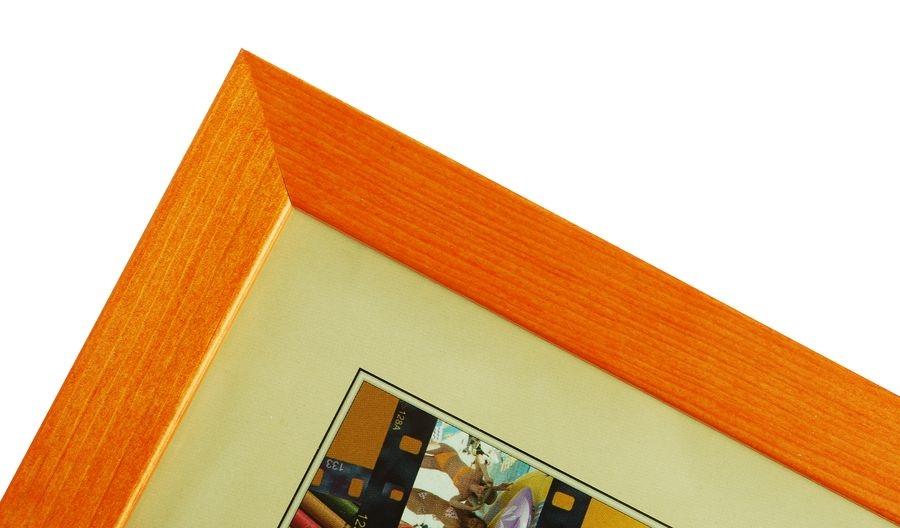 CODEX SLS rám 9x13 dřevo, oranžová 004