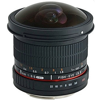 SAMYANG 8 mm f/3,5 UMC Fish-eye CS II pro Canon (APS-C)