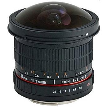 SAMYANG 8 mm f/3,5 UMC Fish-eye CS II pro Canon EF (APS-C)