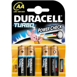 DURACELL AA alkalické baterie TURBO 4ks