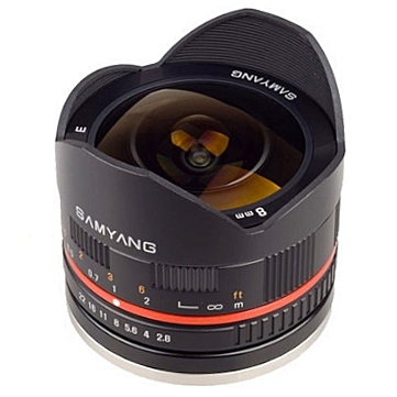 SAMYANG 8 mm f/2,8 UMC Fish-eye II pro Fujifilm X černý