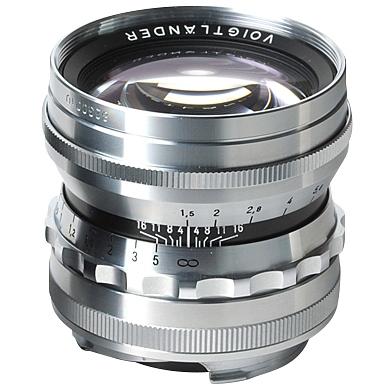 VOIGTLÄNDER 50 mm f/1,5 Nokton Asph. M-bajonet stříbrný