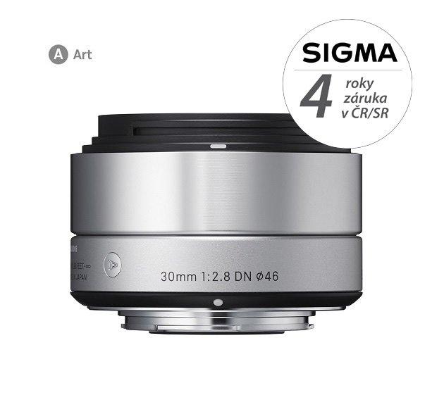 SIGMA 30 mm f/2,8 DN Art stříbrný pro Sony E (APS-C)