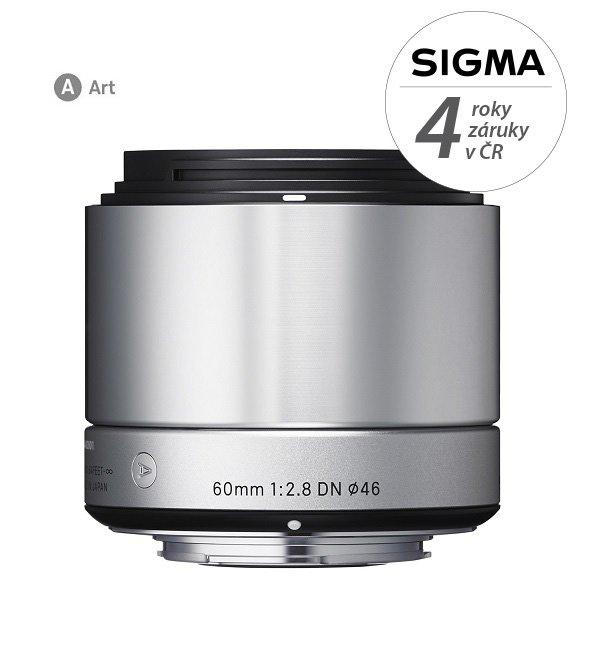 SIGMA 60 mm f/2,8 DN Art stříbrný pro Sony E (APS-C)