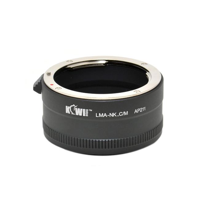 KIWI adaptér objektivu Nikon F(D) na tělo Canon EF-M