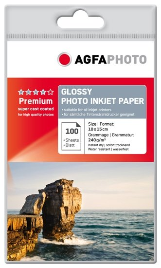 AGFA inkjet 240g Glossy Premium 10x15/100