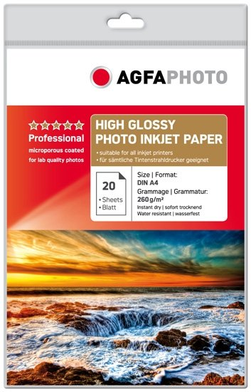 AGFA inkjet 260g High Gloss Professional A4/20