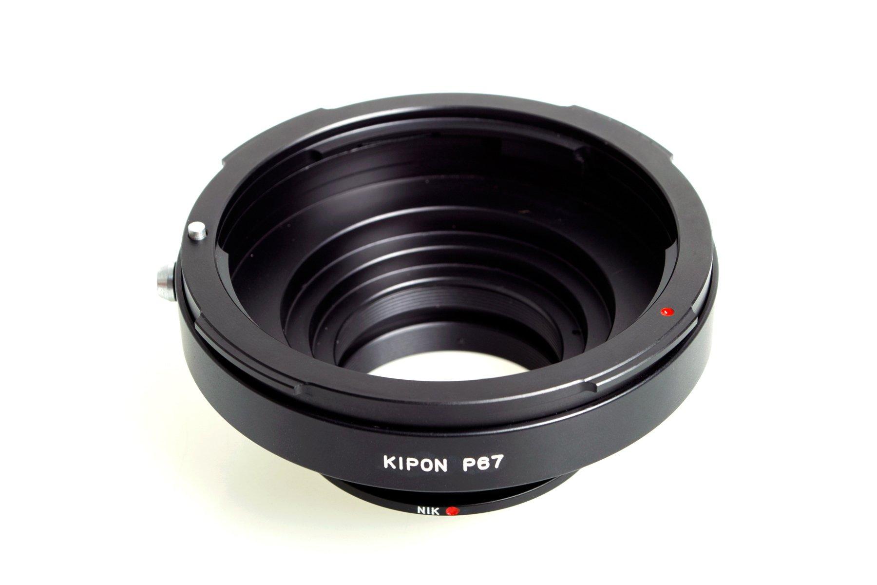 KIPON adaptér objektivu Pentax 67 na tělo Nikon F