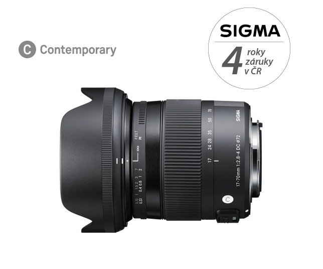 SIGMA 17-70 mm f/2,8-4 DC OS HSM Contemporary pro Canon