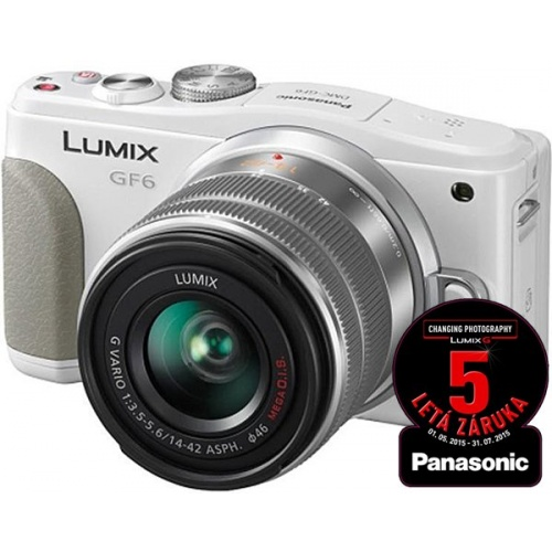 PANASONIC Lumix DMC-GF6 bílý + 14-42 mm