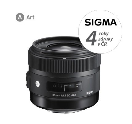 SIGMA 30 mm f/1,4 DC HSM Art pro Sigmu