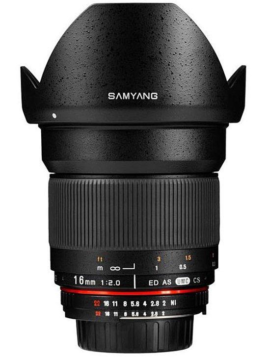 SAMYANG 16 mm f/2 ED AS UMC CS pro Samsung NX