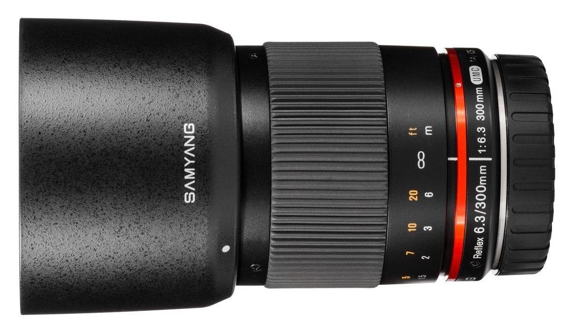SAMYANG 300 mm f/6,3 ED UMC CS Reflex pro Canon EOS M černý