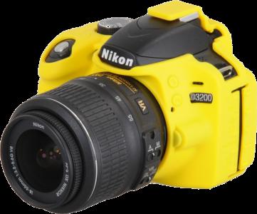EASYCOVER silikonové pouzdro pro Nikon D3200 žluté